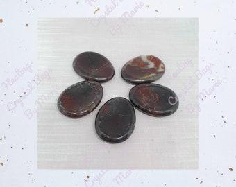 Bloodstone Worry Stone, Thumb Stone