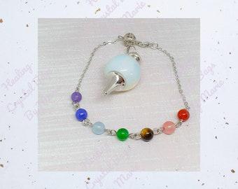 Opalite Ball Gemstone Pendulum