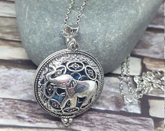 Aromatherapy Essential Oil Diffuser  Necklace  Elephant Locket Pendant