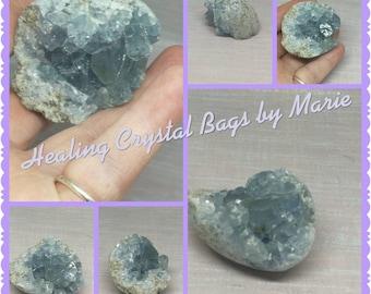 Blue Celestite Geode Piece
