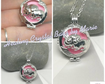 Aromatherapy Essential Oil Diffuser  Necklace  Rabbit Locket Pendant