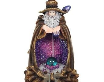 Wizard Backflow Incense Burner with Light
