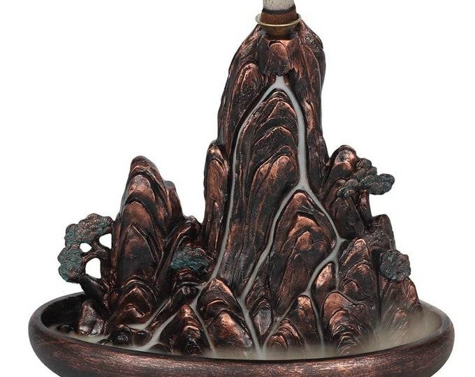 Bronze Effect Island Backflow Incense Burner