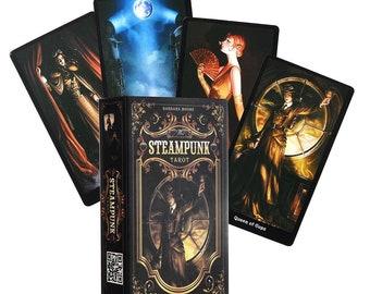 Steampunk Tarot Cards & Guidebook by Barbara Moore