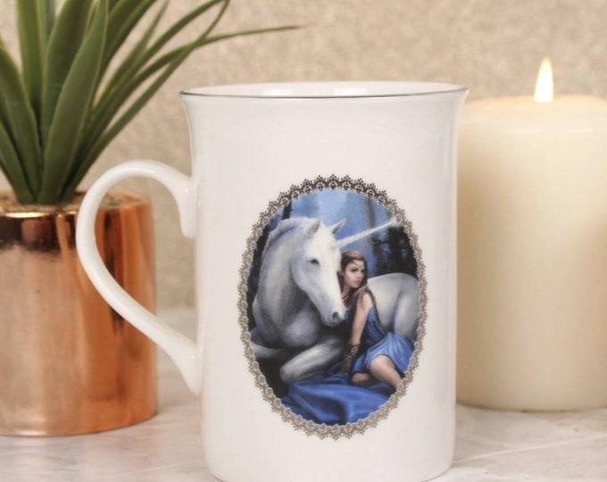 Blue Moon Mug By Anne Stokes