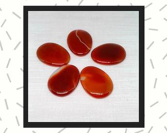 Carnelian Worry Stone, Thumb Stone