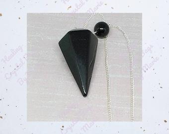 Obsidian Point Pendulum. Free Post UK