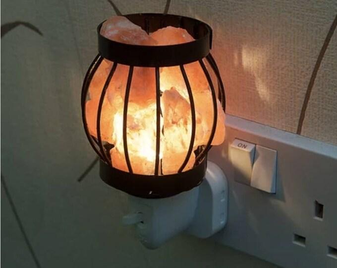 Plug in Basket Salt Lamp, Night Light