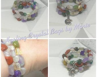 Wrap bracelet with unicorn charm