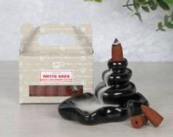 Satya White Sage Backflow Incense Cones
