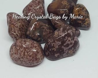 Large Tiger Jasper  Tumblestone Crystal for Chakra healing Reiki - one piece