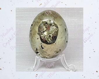 Pyrite Egg 55mm, Fools gold