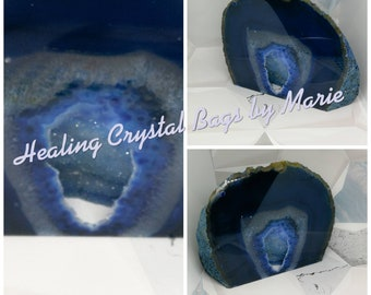 Polished Agate Geode Blue
