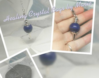 Lapis lazuli Ball Gemstone Pendulum,