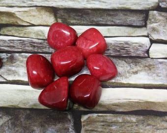 Red Jade Tumblestone 20 -30 mm Crystal Reiki Healing Chakra Spiritual Crystal Healing