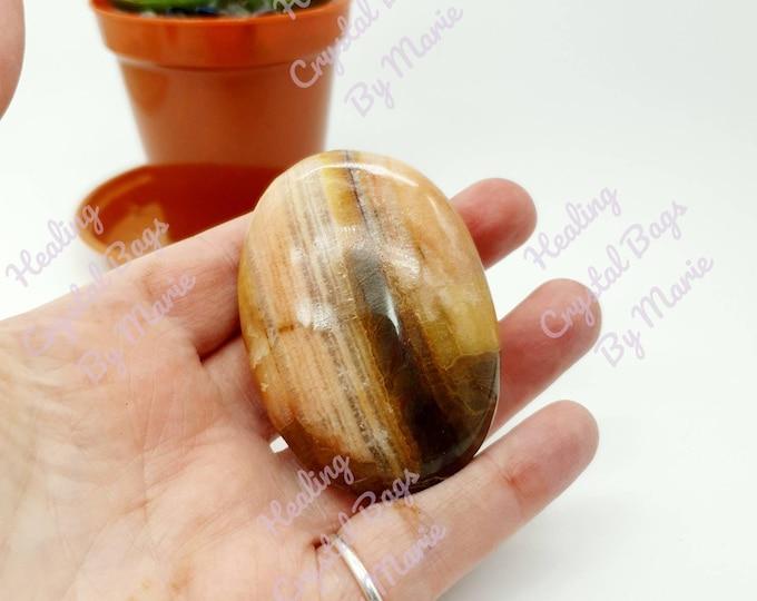 Peach Calcite Pebble