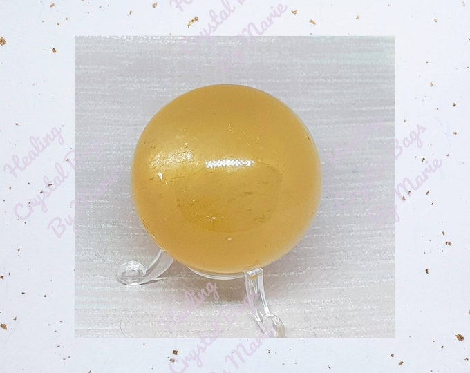 Yellow Calcite  Sphere 60mm Crystal  Ball