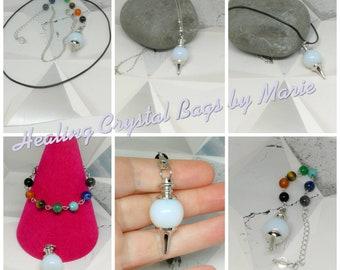 Opalite Ball Gemstone Pendulum,