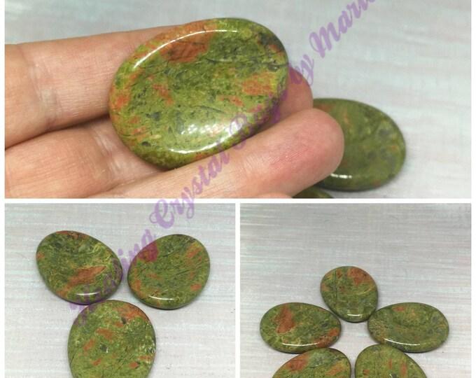 Unakite Worry Stone, Thumb Stone