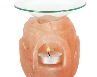 Lotus Flower Salt Lamp Oil Burner