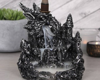 Silver Dragon Backflow Incense Burner
