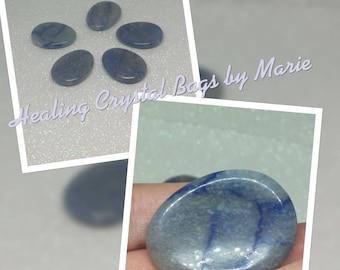 Angelite Polished Worry Stone, Thumb Stone.