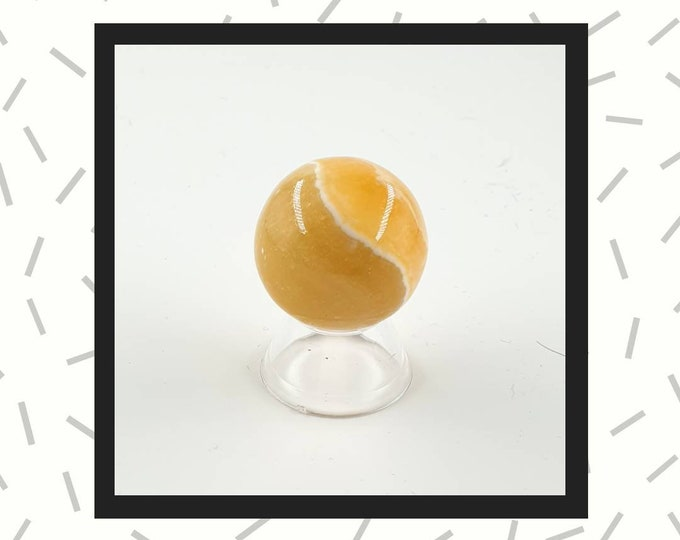 Orange Calcite  Sphere 35mm Crystal  Ball