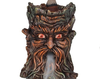 Green Man Backflow Incense Burner