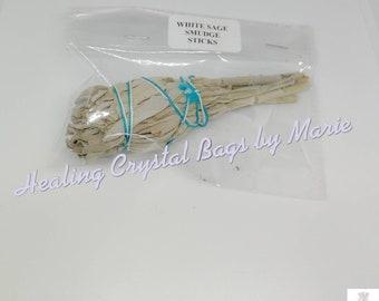 White Sage Smudge Stick, 4 inch.