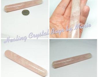 Rose Quartz  Wand 130mm  spiritual for healing and meditation, Massage Wand