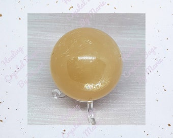 Honey Calcite  Sphere 60mm Crystal  Ball