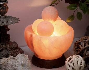 Himalayan  Salt Bowl Lamp (2-3 kg) with Massage Balls