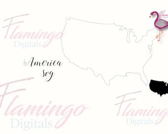 USA SVG, United States svg, vector file, America vector, silhouette, cricut, silhouette portrait, cameo file, commercial use