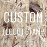 Custom (logo) rubber stamp | Business logo stamp | Personalized stamp | packaging logo stamp | custom stamp | hand carved | personalized