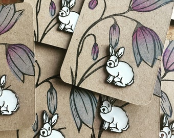 SALE !! Enamel pin | bunny pin | cute bunny pin | sale | accessories | easter | brooch | spring