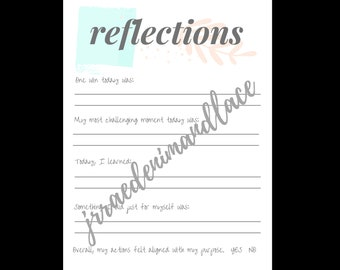 Printable Journal Page - Reflections