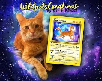 your Pet as a Pokemon card