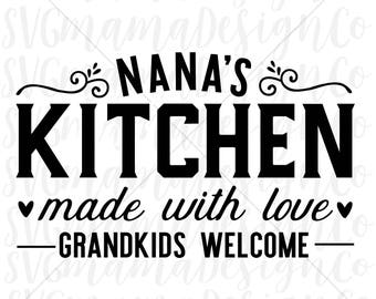 Nanas kitchen svg | Etsy