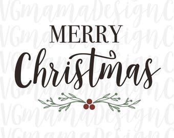 Merry christmas svg | Etsy