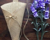 Empty Burlap Church Pew Cone Hessian Barn Wedding Hanging Decoration