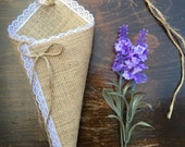 Empty Hessian Lace Church Pew Cone Barn Vintage Burlap Wedding Decorations