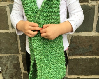 READY TO SHIP Children's hand knit scarf