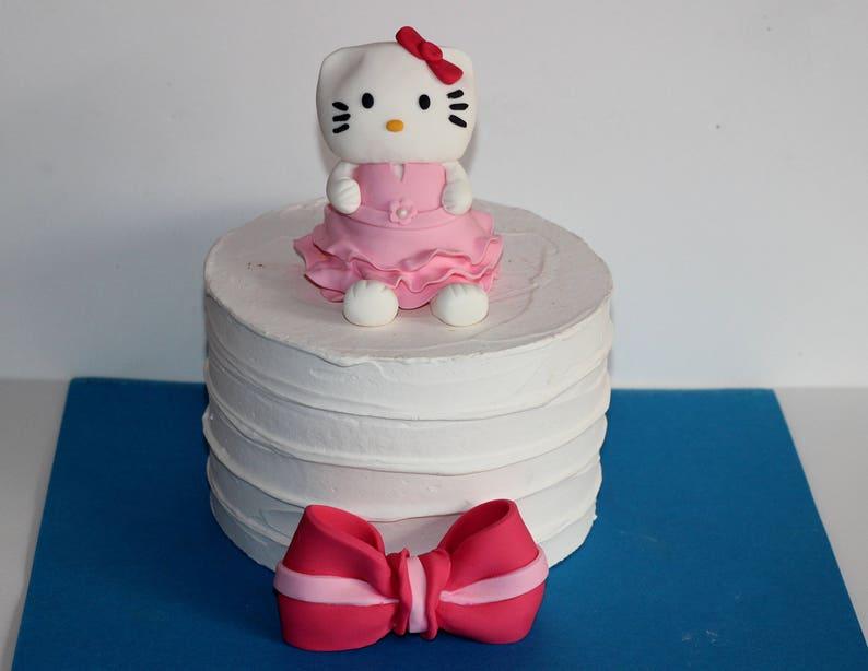 Fondant Cake Topper Hello Kitty Birthday Party
