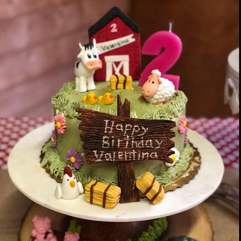 Fondant Farm Animals Cake Decoration KIT Cow Donkey Sheep