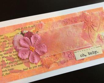 Handmade Art Card - Oh, Baby