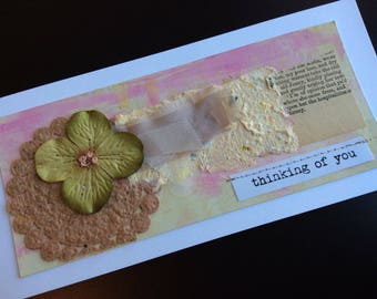 Handmade Art Card - Thinking of You
