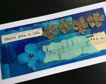 Handmade Art Card - Thank You.  A Lot.