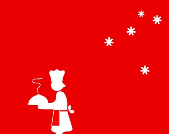 set of 4 greeting cards Christmas