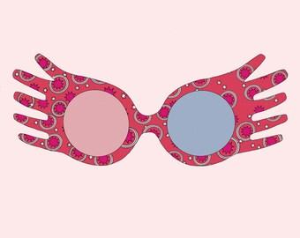 image regarding Luna Lovegood Glasses Printable identify Luna lovegood decor Etsy