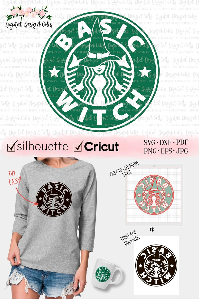 image relating to Printable Starbucks Logos titled Easy Witch SVG, Starbucks Brand SVG, Simple Whinge Starbaks, Do-it-yourself Halloween Blouse, Halloween svg, Witch svg, Witch Iron-upon, Witch Blouse